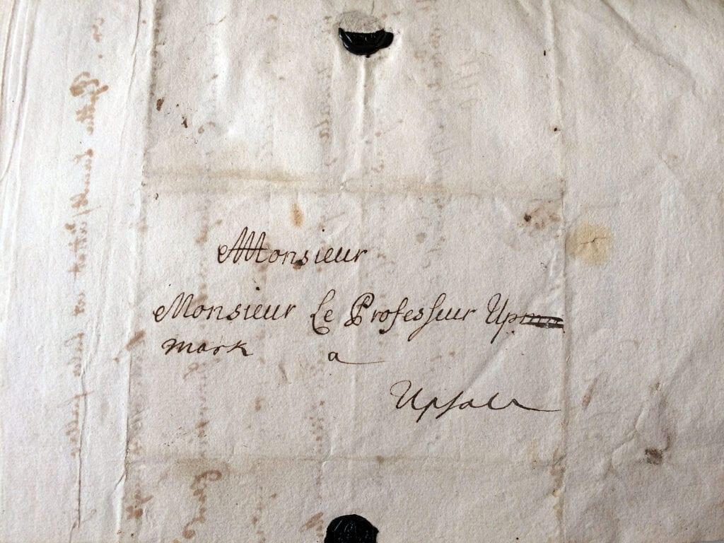 Brev från 10-årige Carl Fredrik Piper till sin lärare Upmarck 17.9 1710.