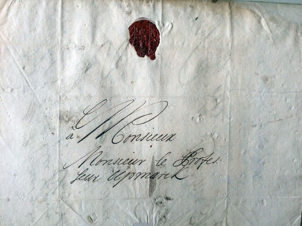 Christina Piper brev 16.3 1713_kuvert
