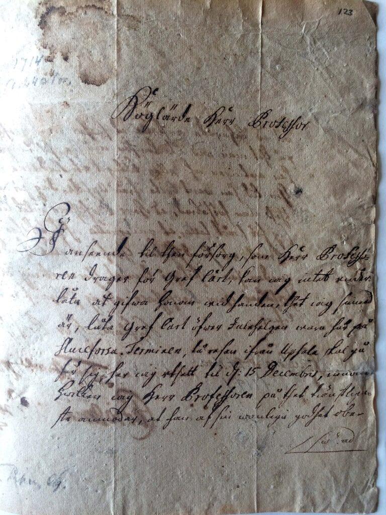 Christina Piper brev 24 nov 1714_sid 1
