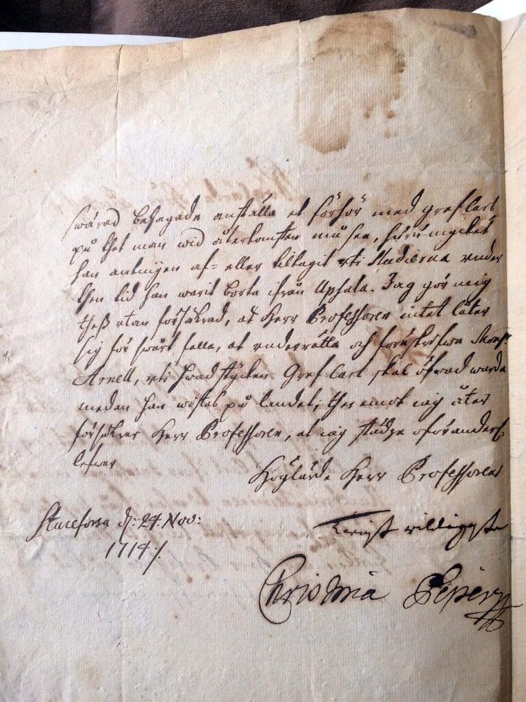 Christina Piper brev 24.11 1714_sid 2