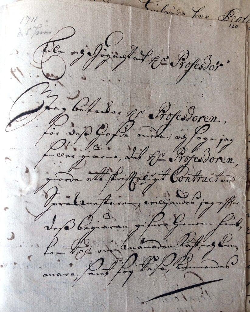 Christina Piper brev 5 juni 1711_sid 1_IMG_0600