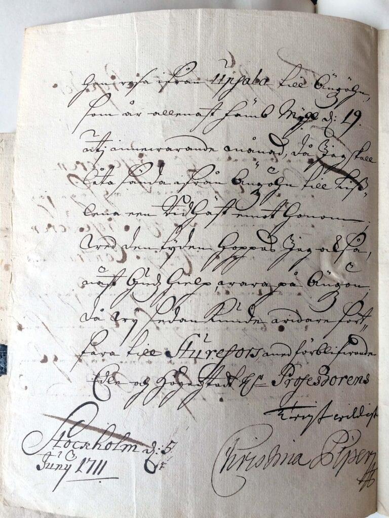Christina Piper brev 5 juni 1711_sid 2_IMG_0601