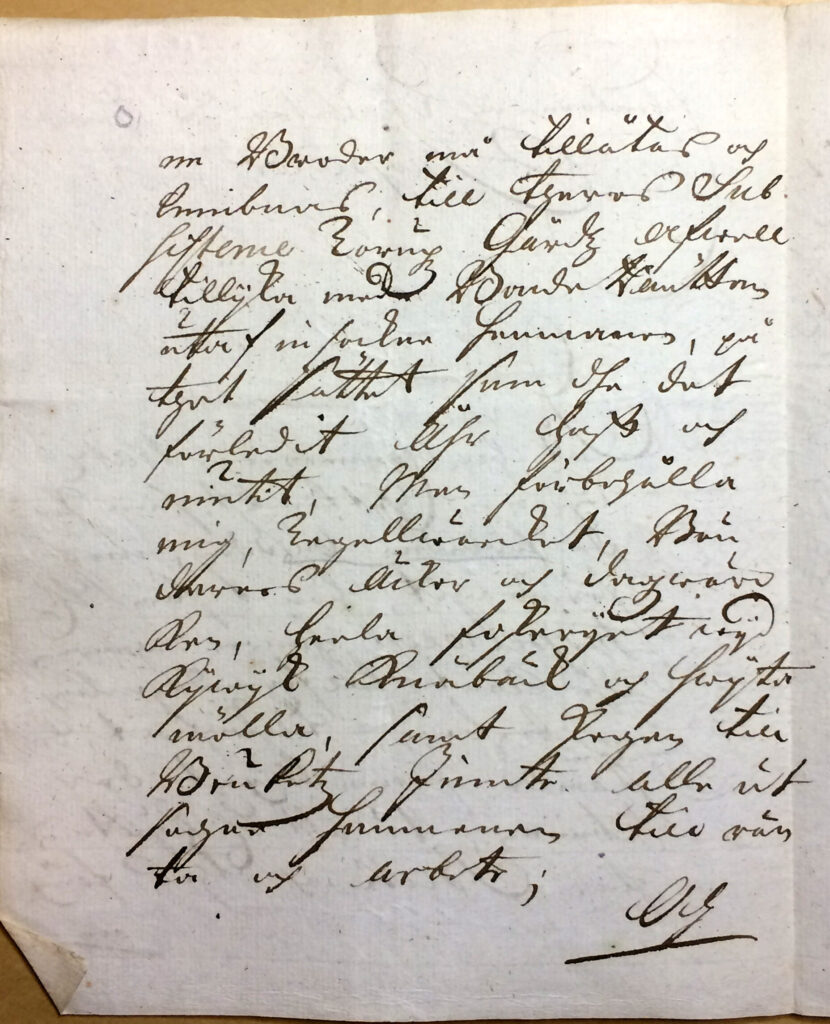 Brev 16.1 1720 fr Christina Piper till inspector Ryting sid 2