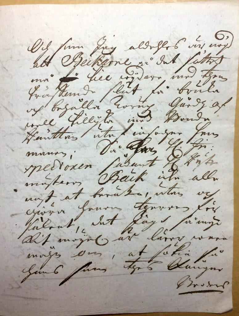 Brev 16.1 1720 fr Christina Piper till inspector Ryting sid 3