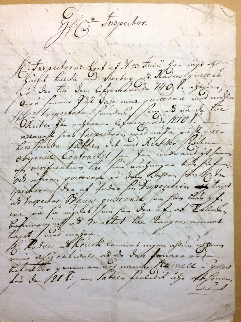 Christina Piper Brev augusti 1719 sid 1