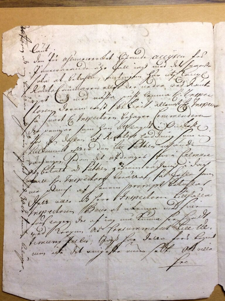 Christina Piper Brev augusti 1719 sid 2