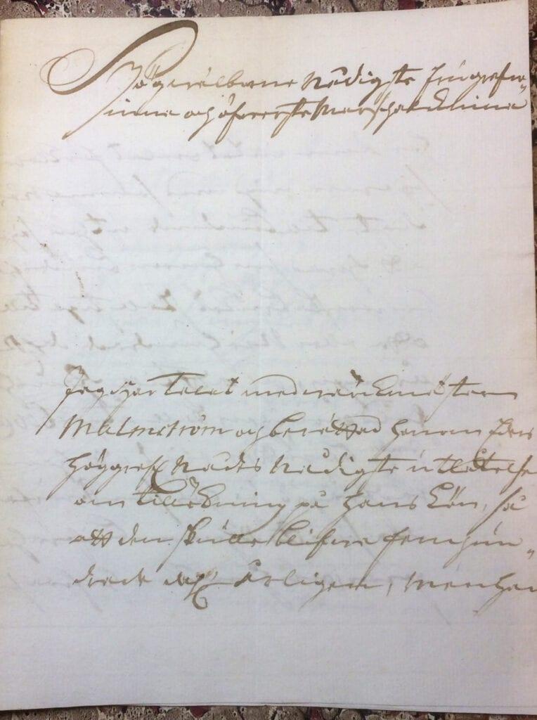 Brev till Christina Piper från Ryting 23 mars 1741 sid 1