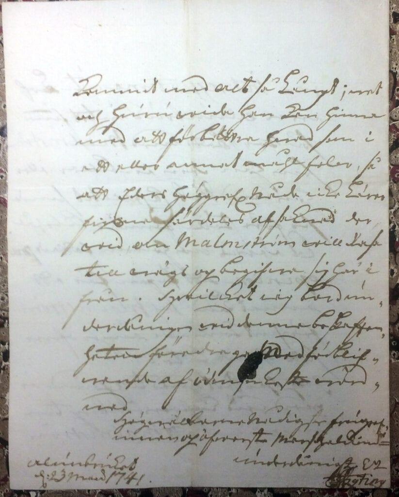 Brev till Christina Piper från Ryting 23 mars 1741 sid 8