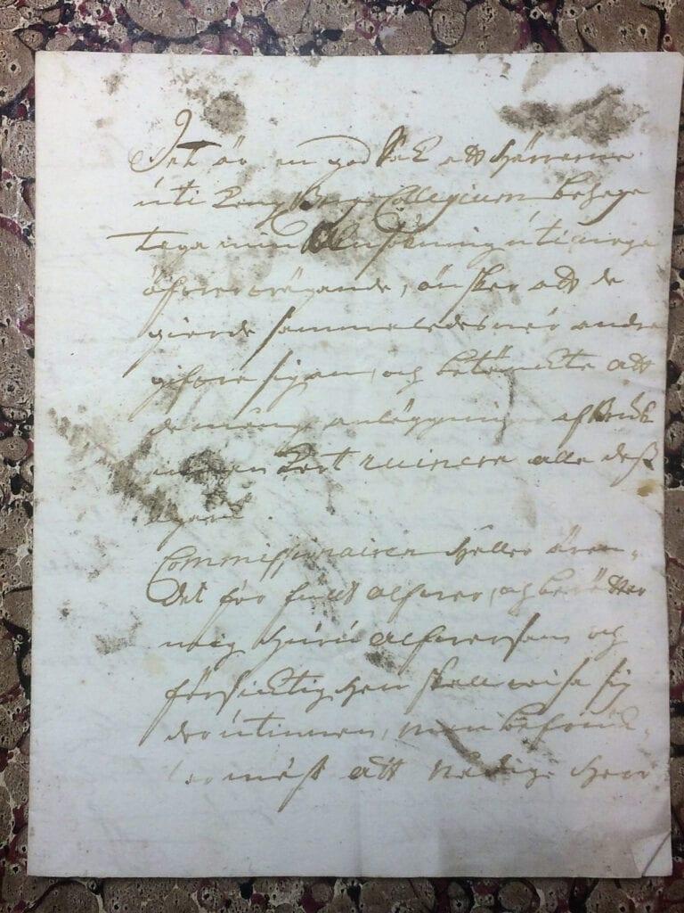 Brev fr Ryting till Christina Piper 11 juli 1741 sid 1
