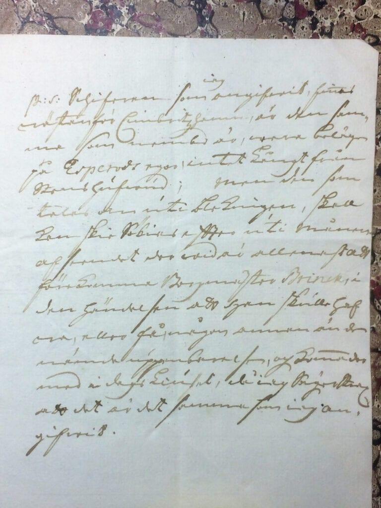 Brev fr Ryting till Christina Piper 11 juli 1741 sid 2