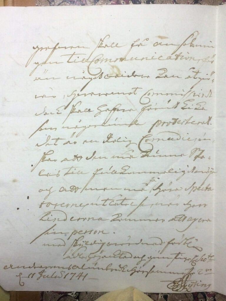 Brev fr Ryting till Christina Piper 11 juli 1741 sid 3