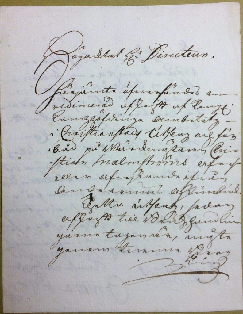 Christina Piper brev 9 oktober 1741 sid 1
