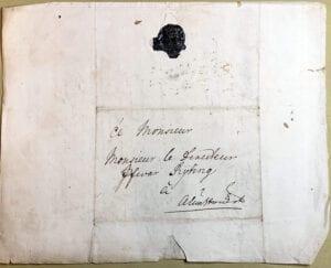 Christina Piper 11 juni 1742 kuvert