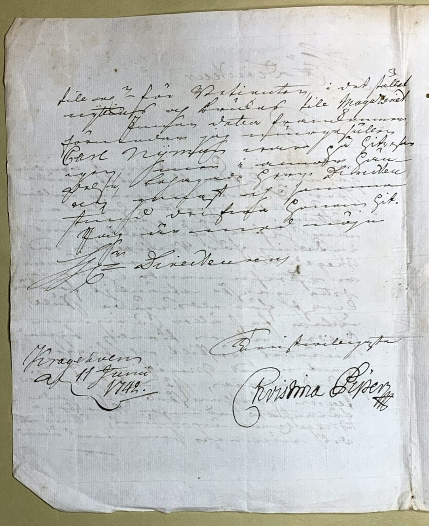 Christina Piper 11 juni 1742 sid 2
