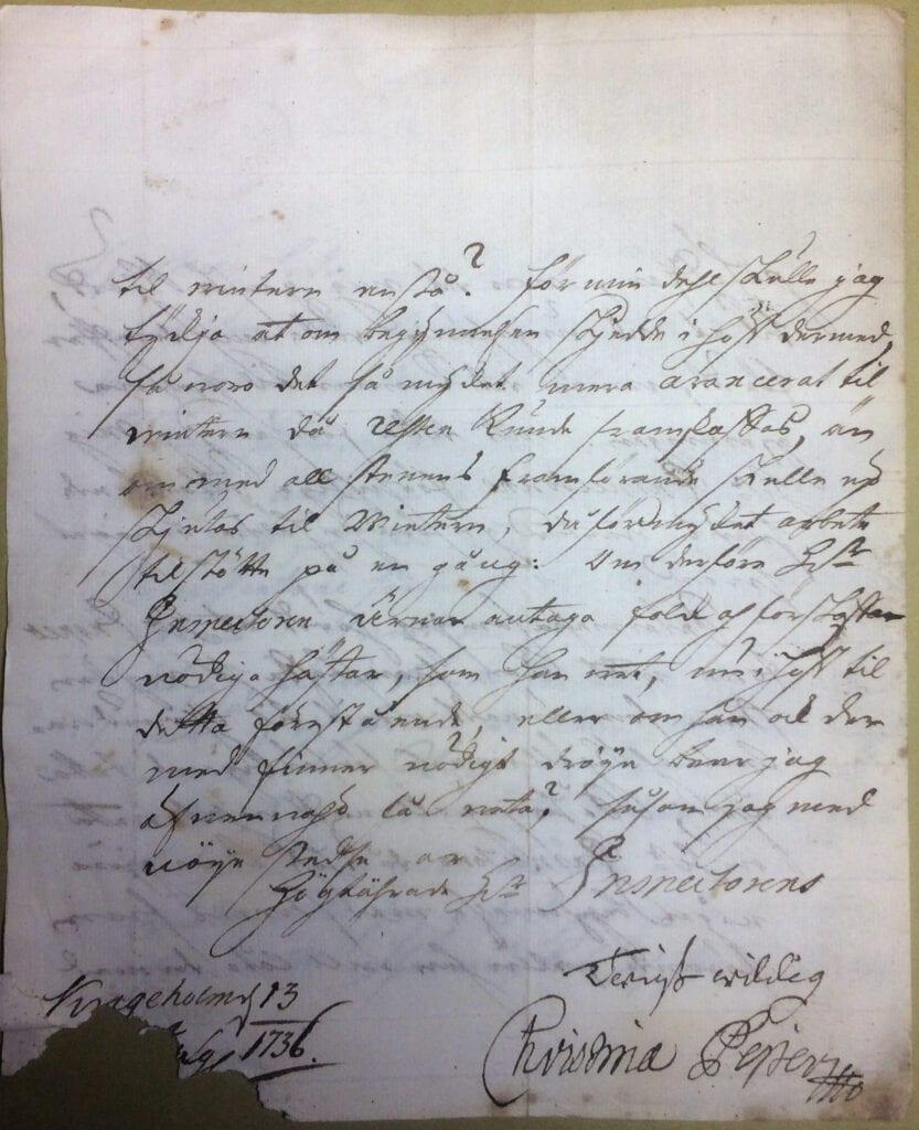 Christina Piper 13 jan 1736 sid 4