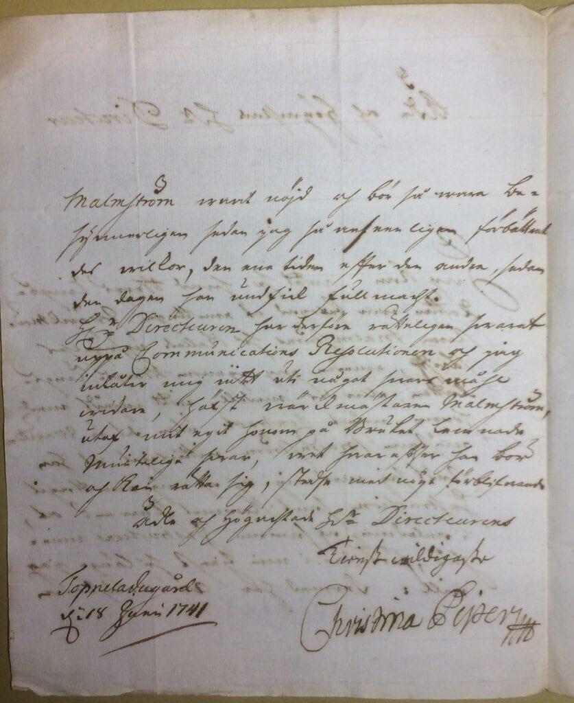 Christina Piper 18 juni 1741 sid 2 IMG_4983