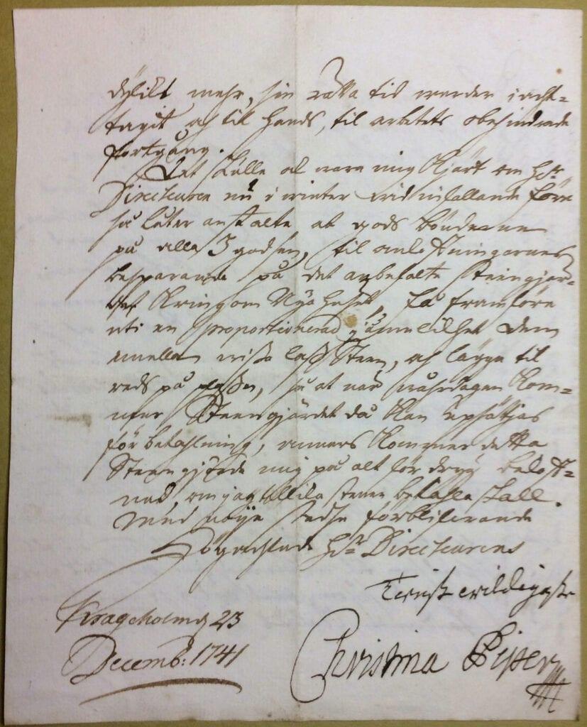 Christina Piper 23 december 1741 sid 4