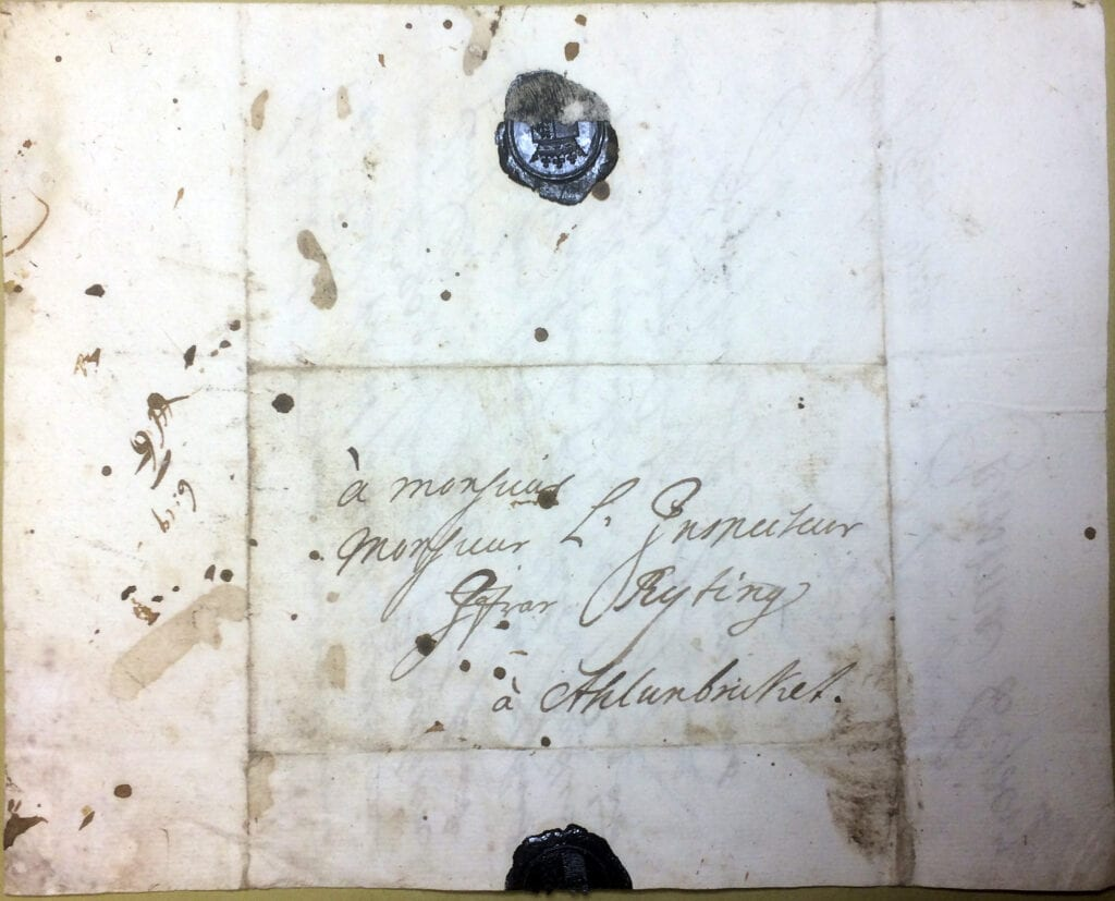 Christina Piper 24 feb 1738 kuvert