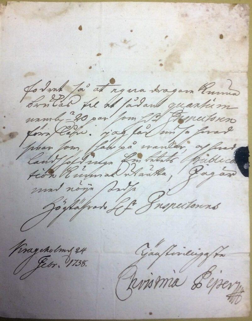 Christina Piper 24 feb 1738 sid 3