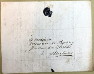 Christina Piper 25 oktober 1742 kuvert