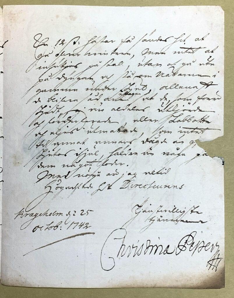 Christina Piper 25 oktober 1742 sid 3