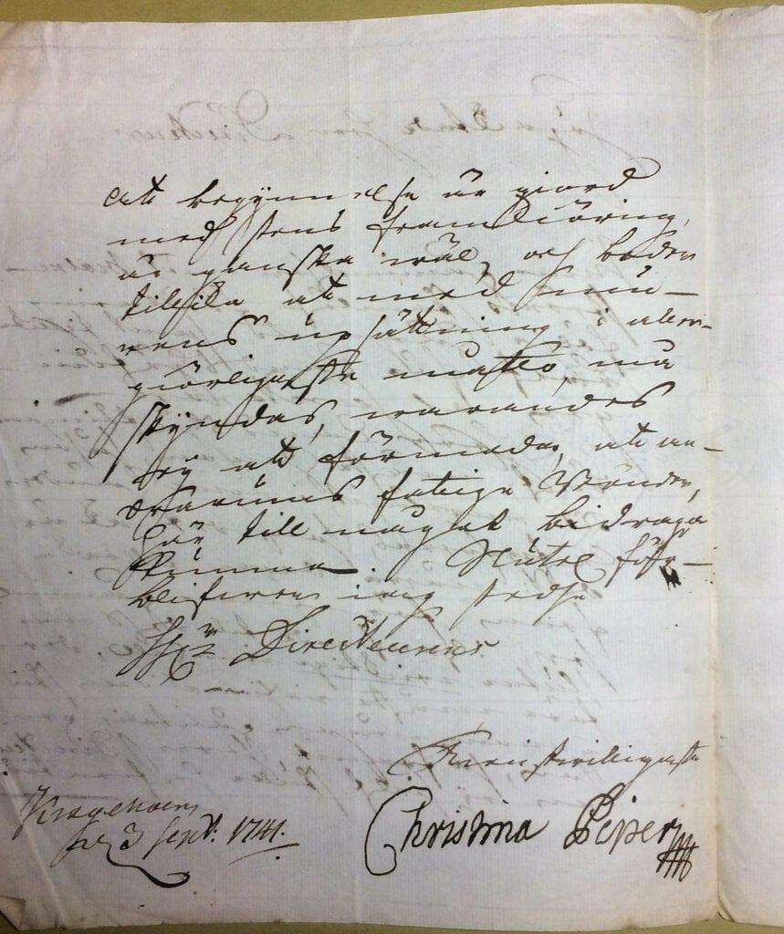 Christina Piper 3 september 1741 sid 2