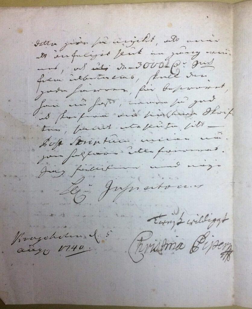 Christina Piper 5 augusti 1740 sid 2