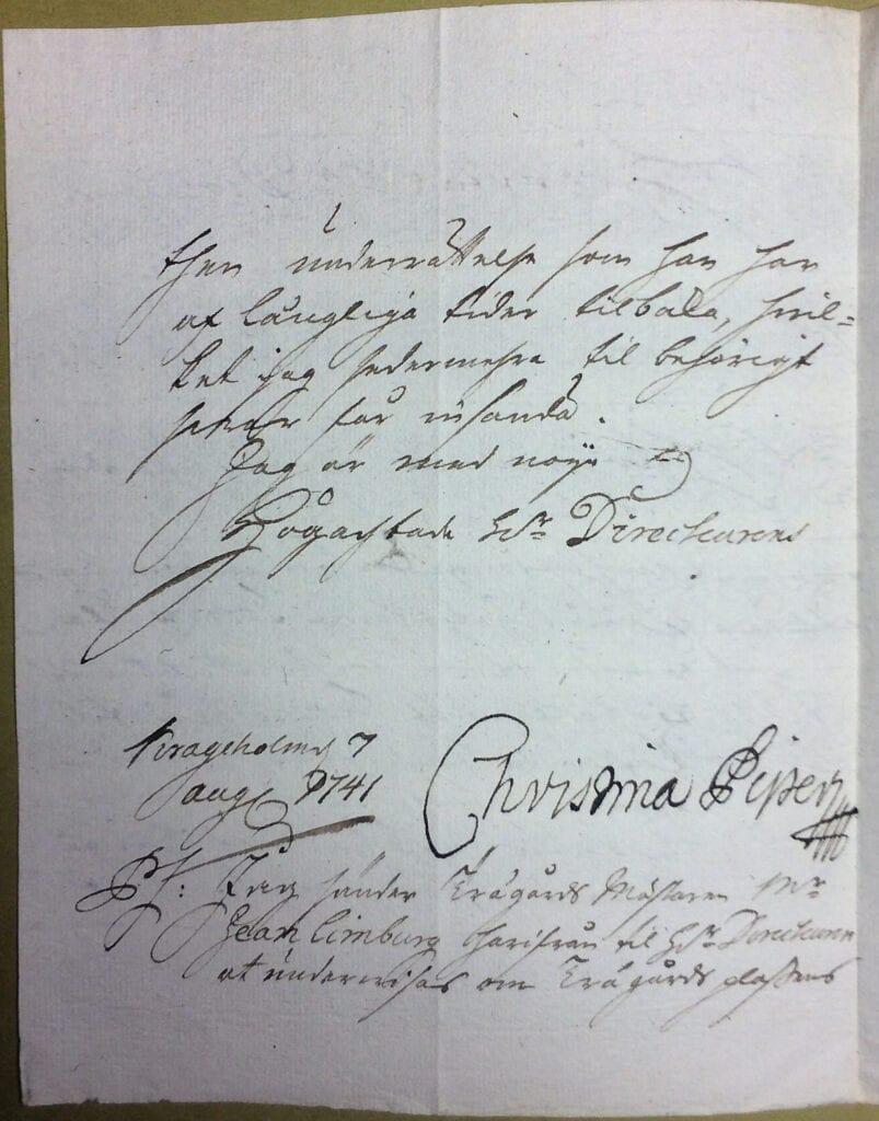 Christina Piper 7 augusti 1741 sid 2 IMG_4987