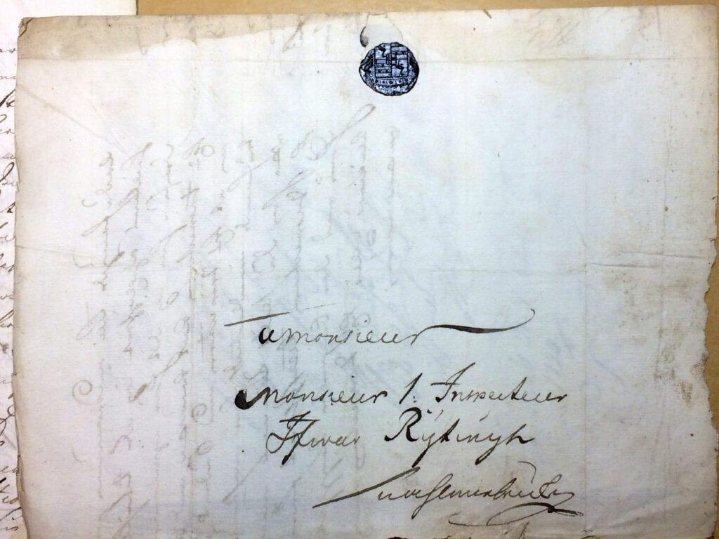 Christina Piper Brev 1.10 1720 kuvert
