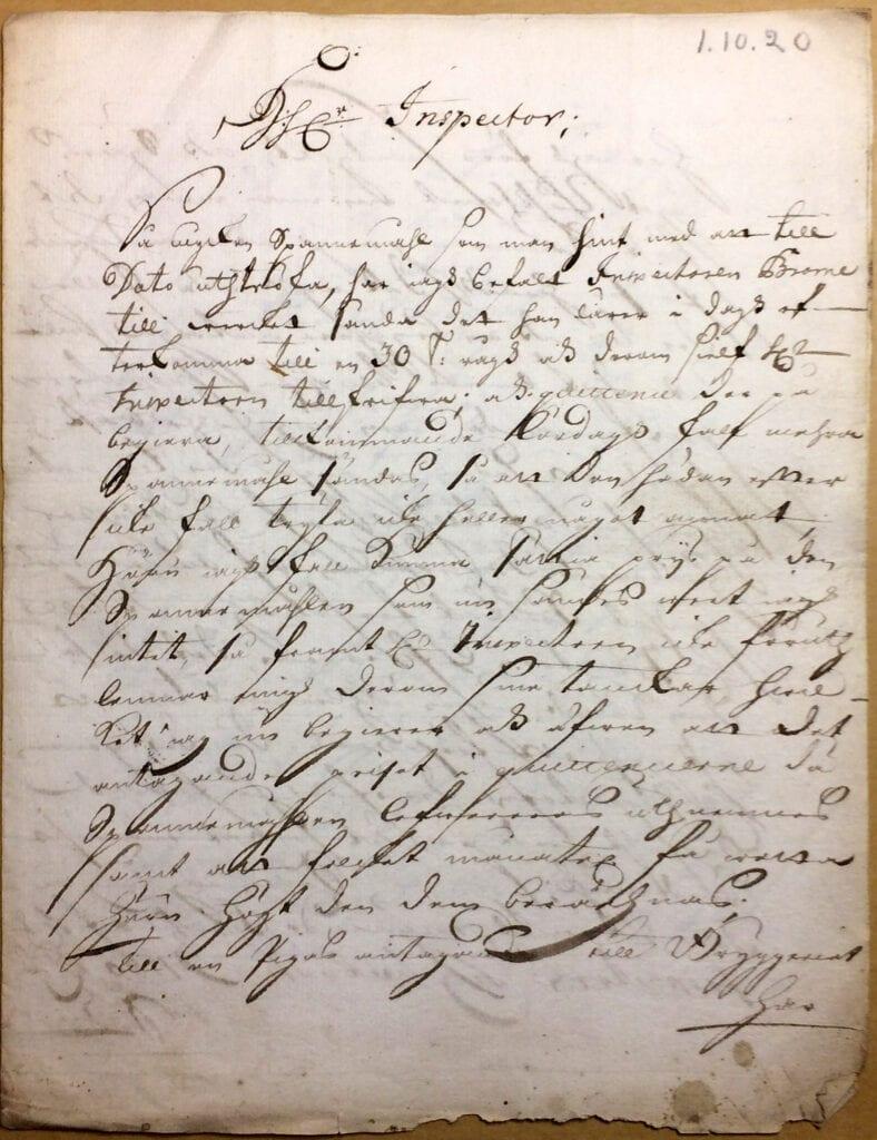 Christina Piper Brev 1.10 1720 sid 1
