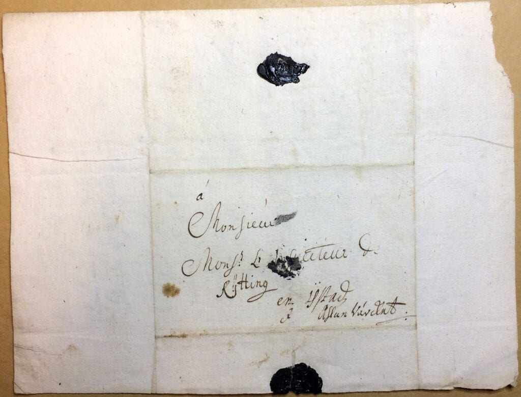 Christina Piper Brev 18.6 1720_kuvert
