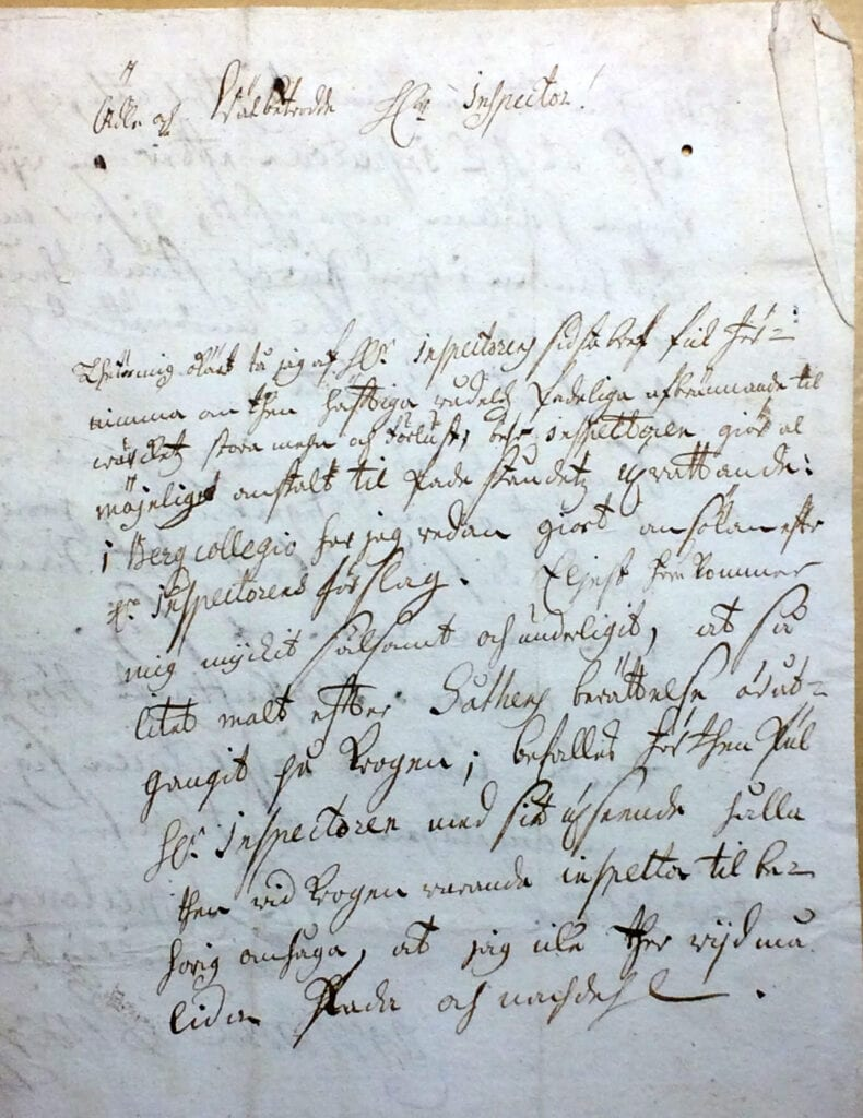 Christina Piper Brev 19 juni 1720_sid 1