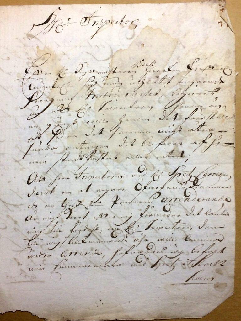 Christina Piper Brev nov 1720 sid 1