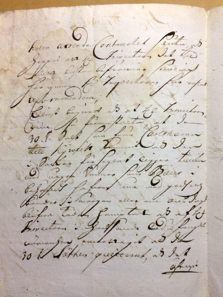 Christina Piper Brev nov 1720 sid 2