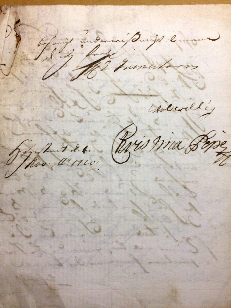 Christina Piper Brev nov 1720 sid 4