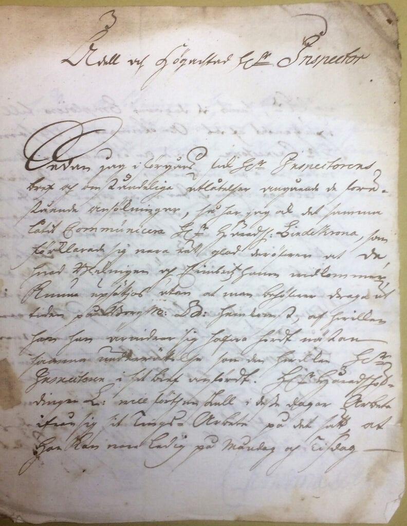 Christina Piper brev 11 juni 1740 sid 1