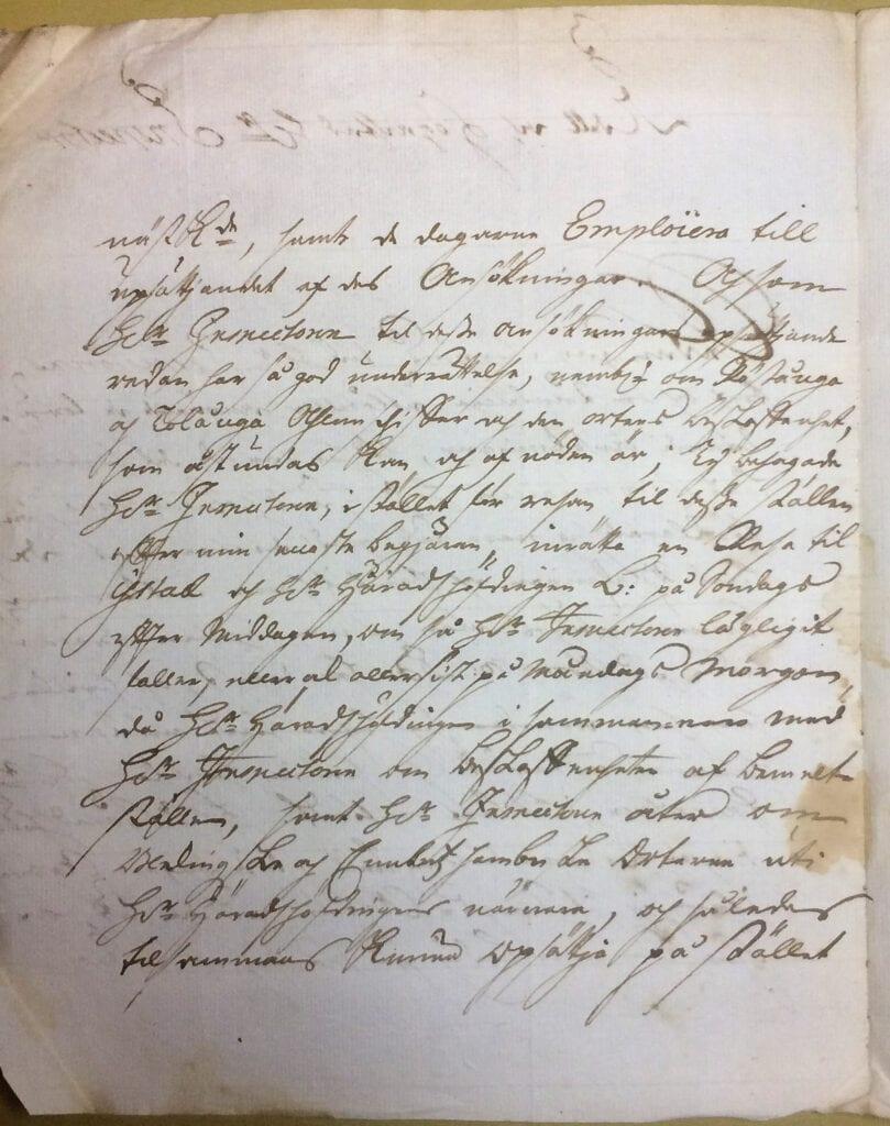 Christina Piper brev 11 juni 1740 sid 2