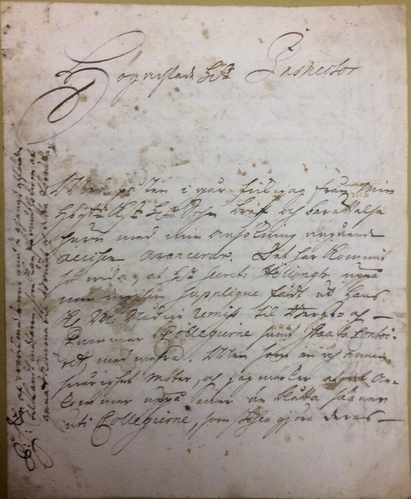 Christina Piper brev 16 oktober 1740 sid 1