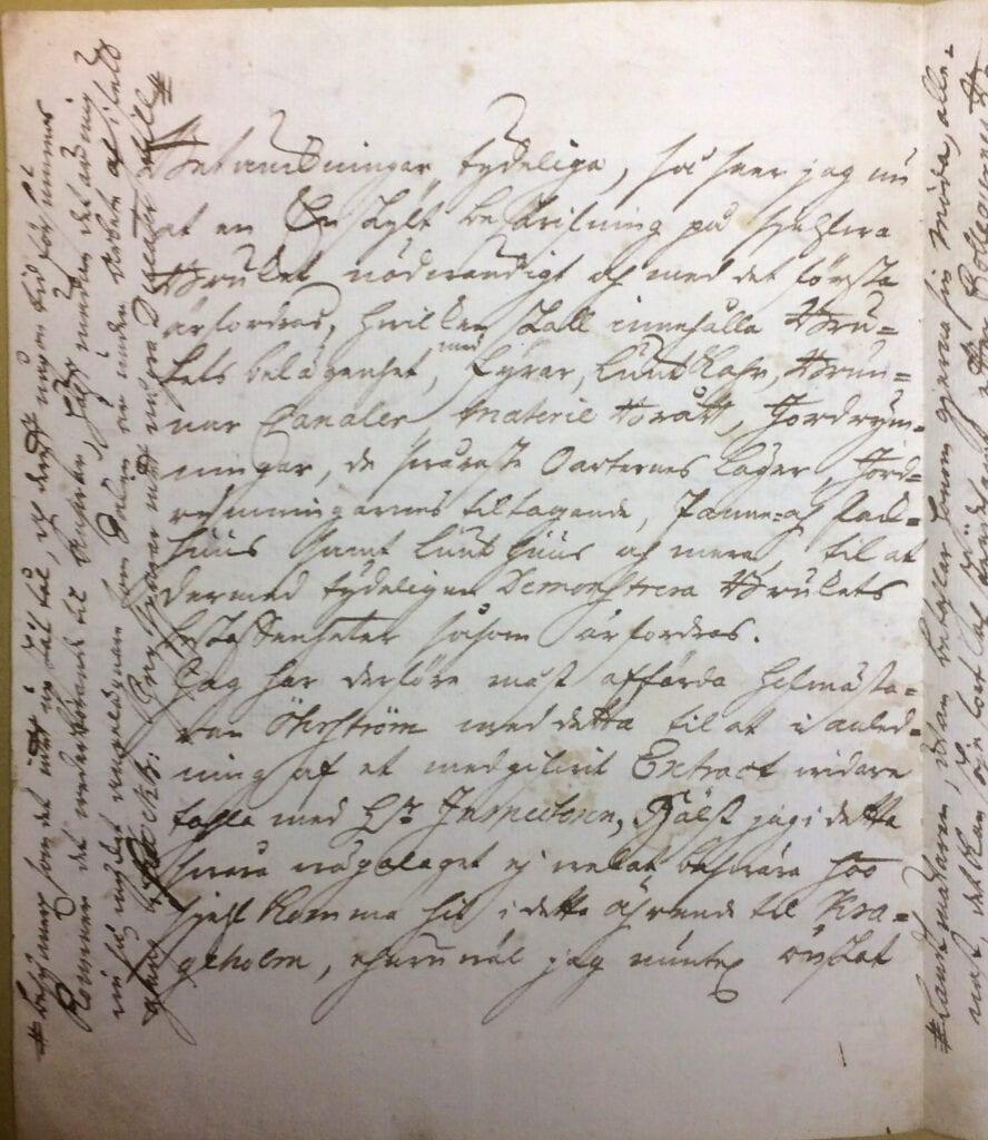 Christina Piper brev 16 oktober 1740 sid 2