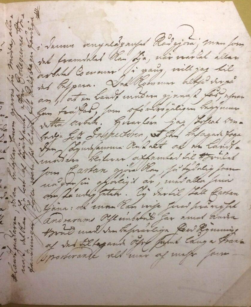 Christina Piper brev 16 oktober 1740 sid 3