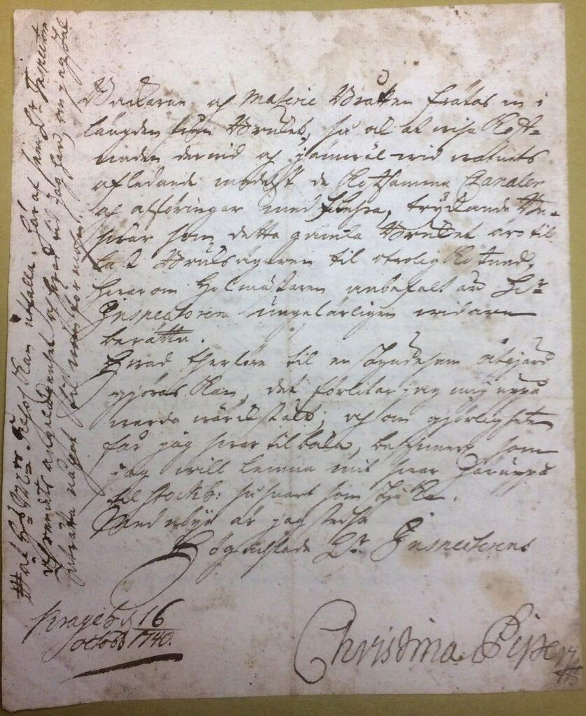 Christina Piper brev 16 oktober 1740 sid 4