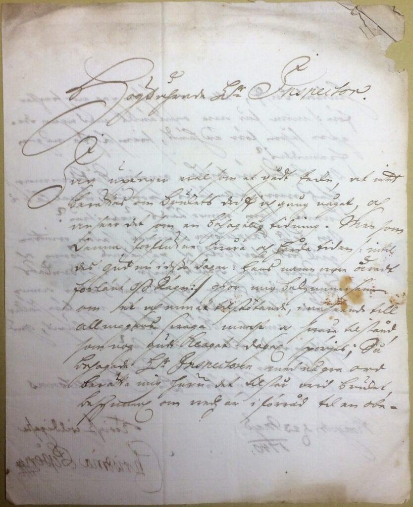 Christina Piper brev 23 maj 1740 sid 1