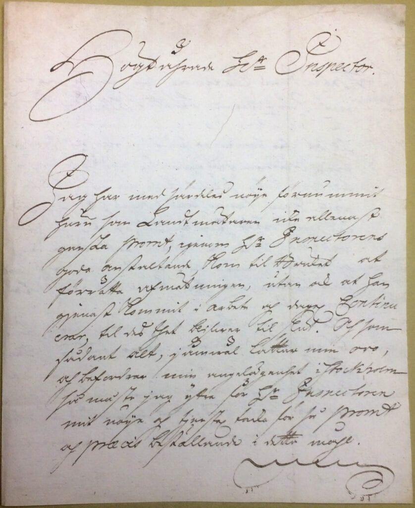 Christina Piper brev 28 oktober 1740 sid 1