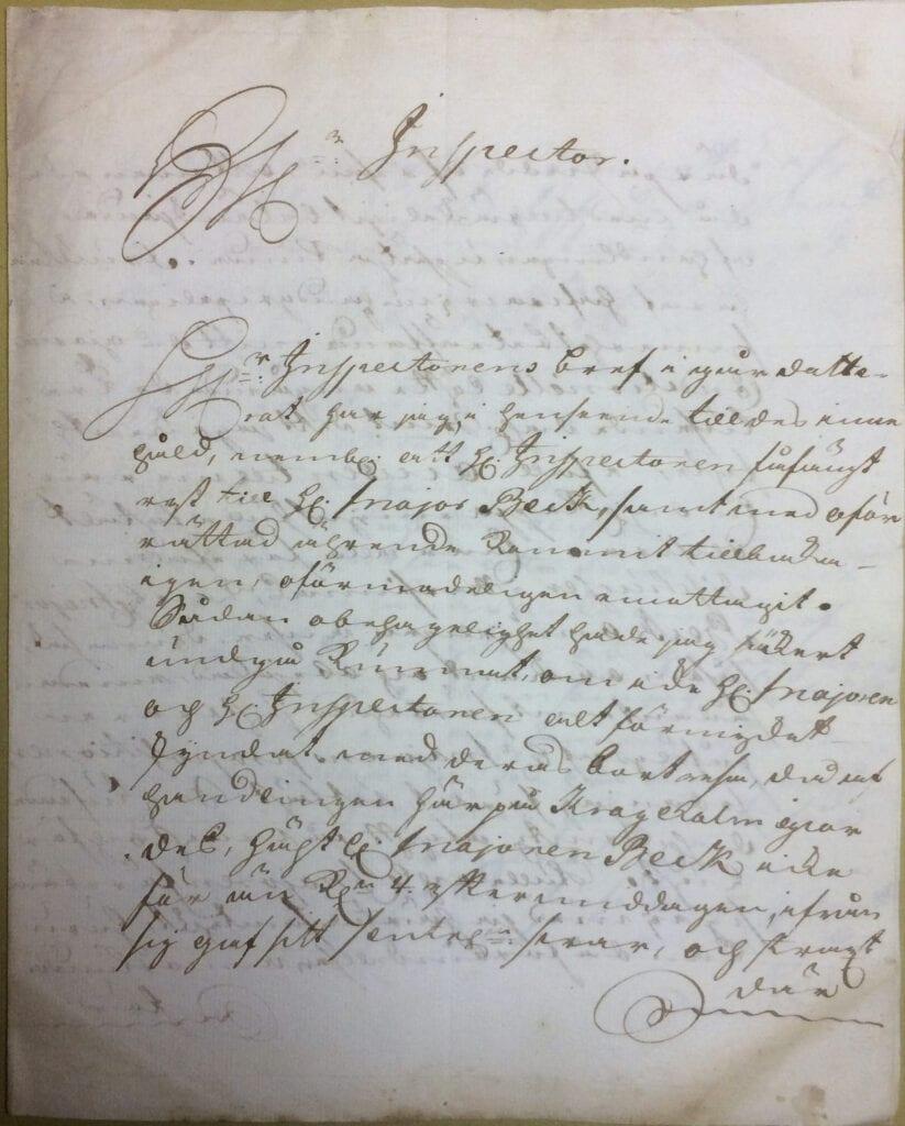 Christina Piper brev 29 juli 1740 sid 1