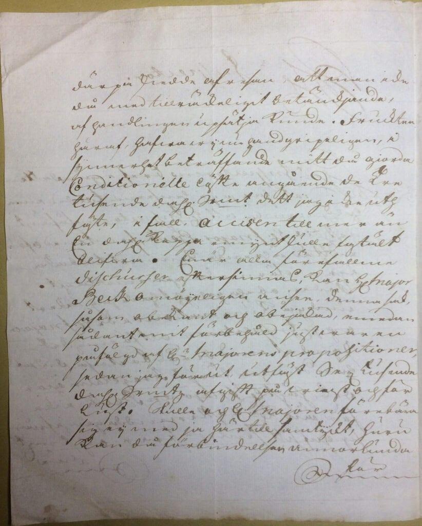 Christina Piper brev 29 juli 1740 sid 2