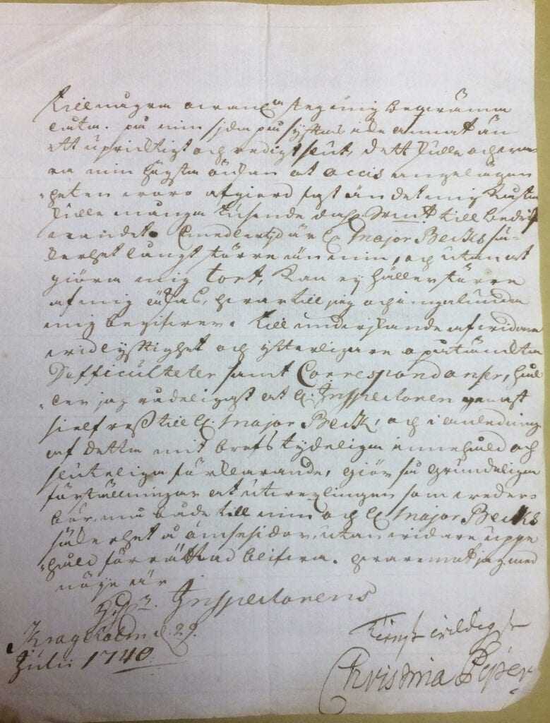 Christina Piper brev 29 juli 1740 sid 7
