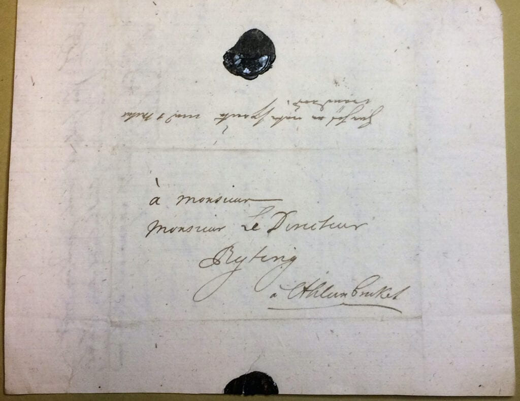 Christina Piper brev 3 november 1741 kuvert