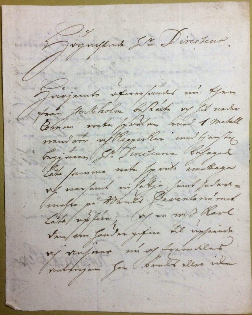 Christina Piper brev 3 november 1741 sid 1