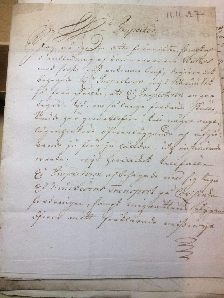 Christina Piper till Ryting 11.11 1727 sid 1