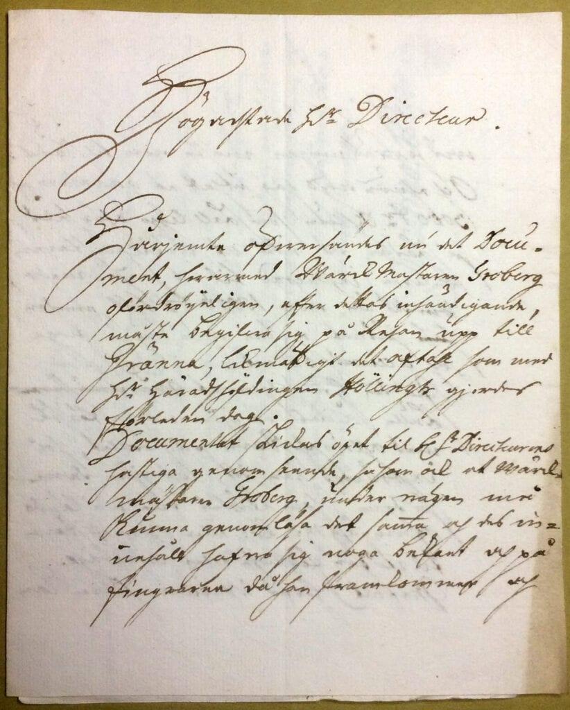 Christina Piper brev aug 1741 sid 1